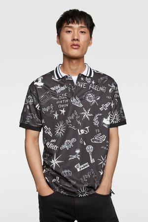 Zara Men Polo Shirts - Printed polo shirt