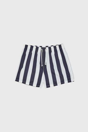Zara Men Swimming Briefs - Striped swimming trunks