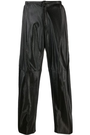 WALTER VAN BEIRENDONCK Men Leather Pants - 2009/10's Glow faux leather trousers