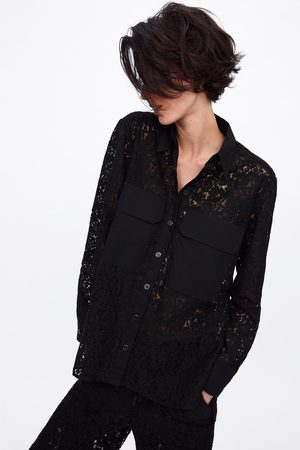 Zara Lace shirt with pockets