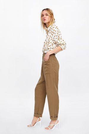 Zara Cropped polka dot shirt