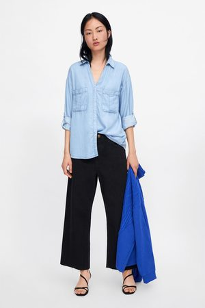 Zara Women Denim - Denim shirt with pockets