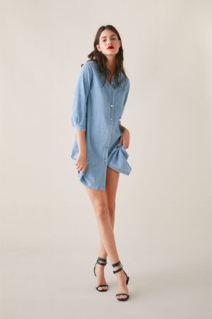 Zara Long denim shirt