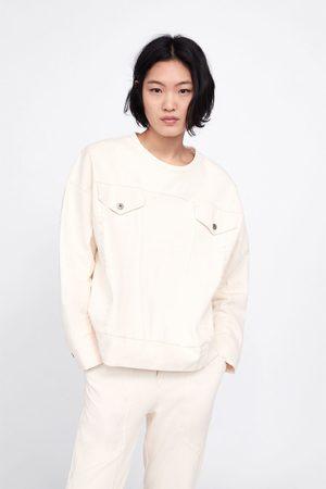 Zara Sweatshirt with contrasting pockets