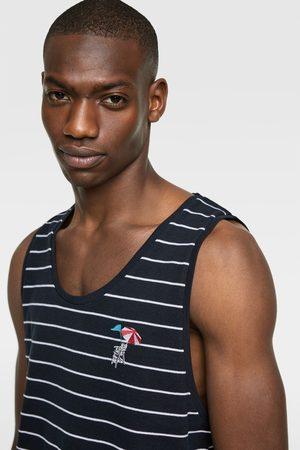 Zara Striped piqué tank top