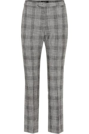 Isabel Marant Derys checked cotton and wool pants