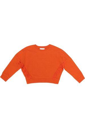 Stella McCartney Frills cropped cotton sweatshirt