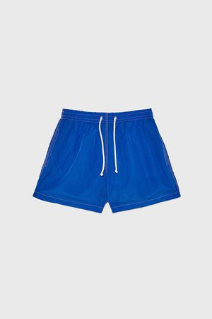 Zara Swimming trunks with contrast topstitching