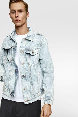 Zara Creased-effect denim jacket