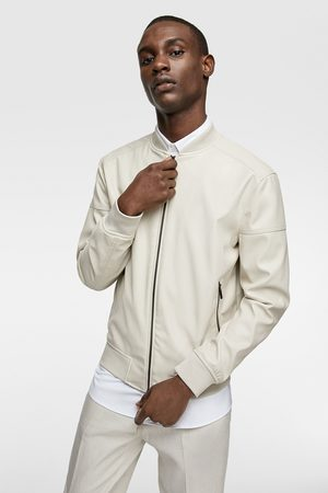 Zara Faux leather bomber jacket