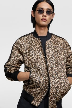 Zara Animal print bomber jacket