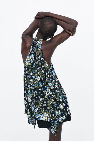 Zara Women Halterneck Tops - Printed halterneck top