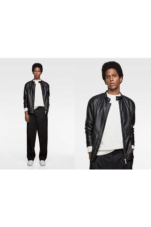 Zara Men Leather Jackets - Faux leather jacket