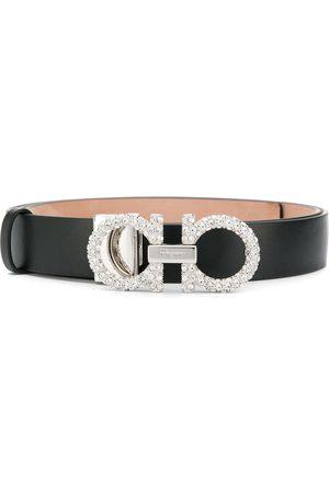 Salvatore Ferragamo Embellished Gancini belt