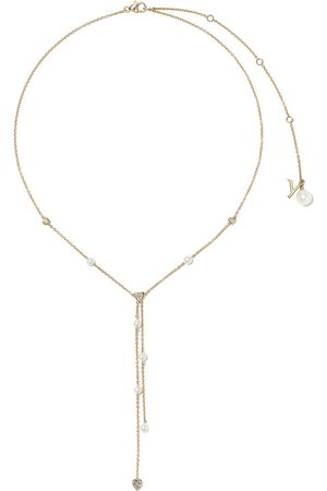 Yoko London 18kt yellow gold Trend freshwater pearl and diamond necklace