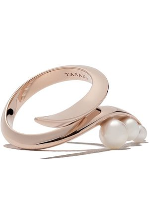 Tasaki 18kt rose gold Nacreous Akoya pearl ring