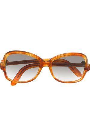 Yves Saint Laurent 1970's square gradient sunglasses
