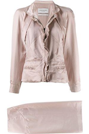 Yves Saint Laurent 1990's slim jacket & skirt set
