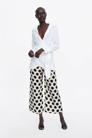 Zara Wide-leg polka dot trousers