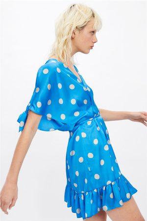 Zara Polka dot dress with tied belt