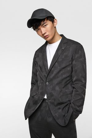 Zara Camouflage jacquard blazer