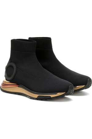 Salvatore Ferragamo Gardena sock sneakers