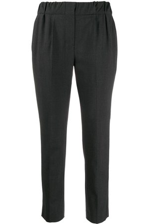 Brunello Cucinelli Elastic-waist tapered-leg trousers