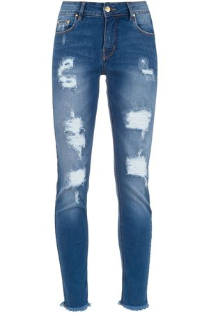 AMAPÔ Ripped skinny-fit jeans