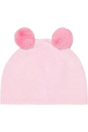 Il gufo Pom pom-trimmed wool hat