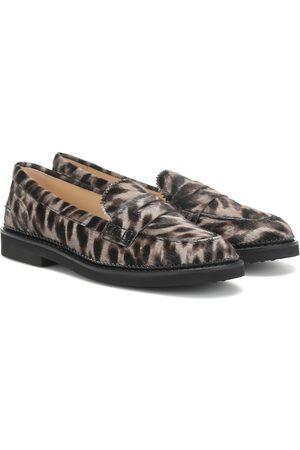 Tod's Cheetah-print calf hair loafers