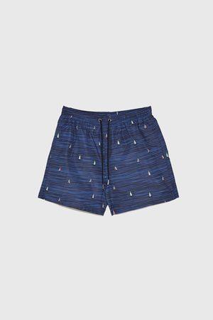 Zara Men Swimming Briefs - Nautical print swimming trunks