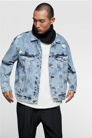 Zara Men Denim Jackets - Denim jacket with slogan