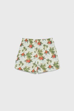 Zara Volcano print swimming trunks