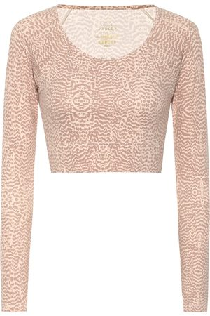 Varley Arizona snake-print sports top