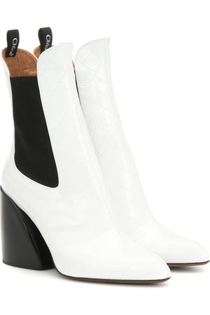 Chloé Wave leather ankle boots