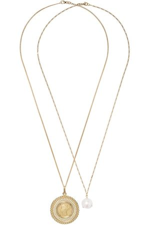 WOUTERS & HENDRIX 18kt gold pearl and coin pendant necklace