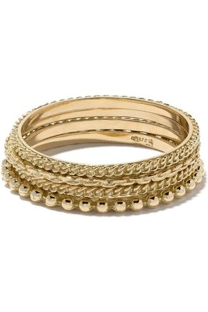 WOUTERS & HENDRIX 18kt gold four rings set