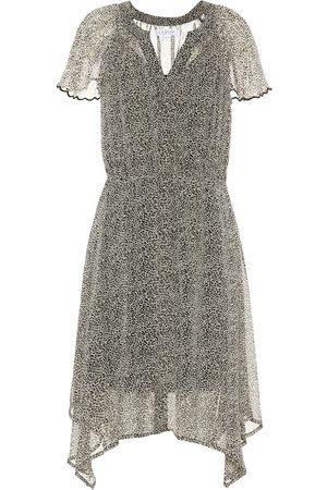 Velvet Women Printed Dresses - Belen leopard-print dress