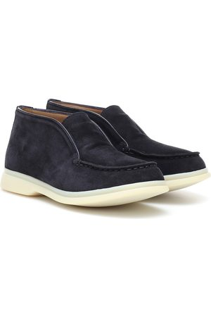 Loro Piana Kids Suede ankle boots
