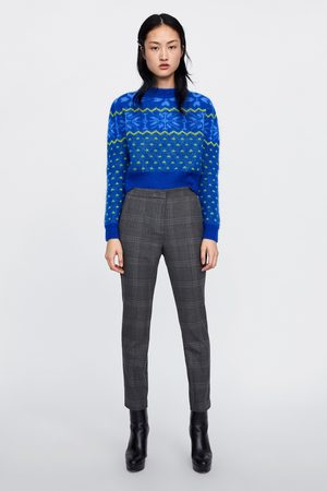 Zara Trousers - CHECKED JOGGING TROUSERS