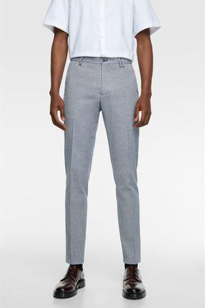 Zara Men Pants - Textured suit trousers