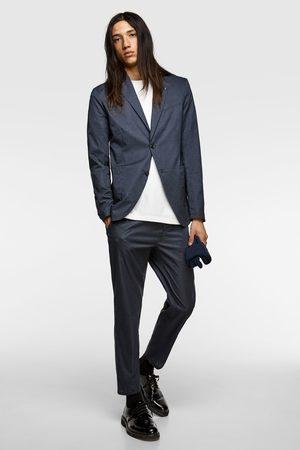Zara Men Pants - Textured technical suit trousers
