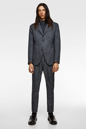 Zara Men Pants - Striped technical suit trousers
