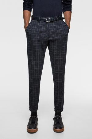 Zara Check comfort knit suit trousers