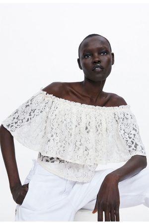 Zara Lace cropped top