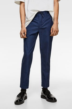Zara Check technical suit trousers