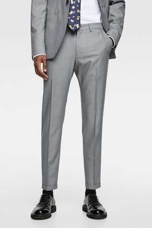 Zara Men Pants - Textured panama suit trousers