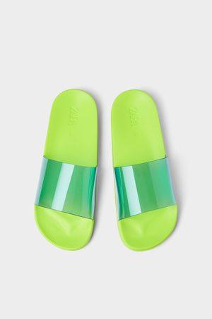Zara Vinyl slide sandals