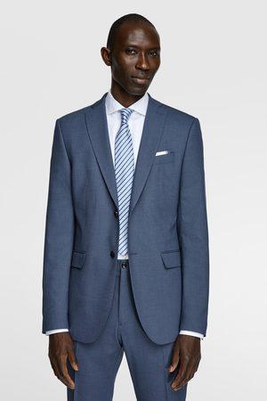 Zara Bird's-eye suit blazer