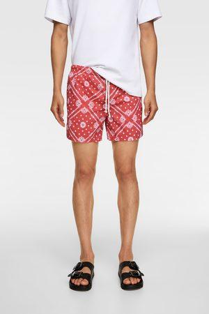 Zara Men Swimming Briefs - Bandana print swimming trunks